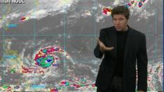 El potente tifón Noul