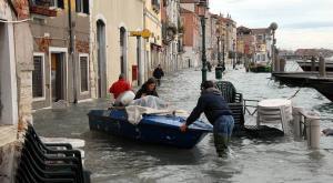 Inundaciones en Venecia históricas: el agua lo cubre todo