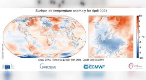 Europa registra el abril más frío desde 2003